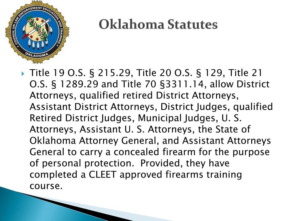 Oklahoma Statutes