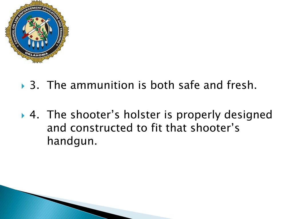 3.The ammunition is both safe and fresh.