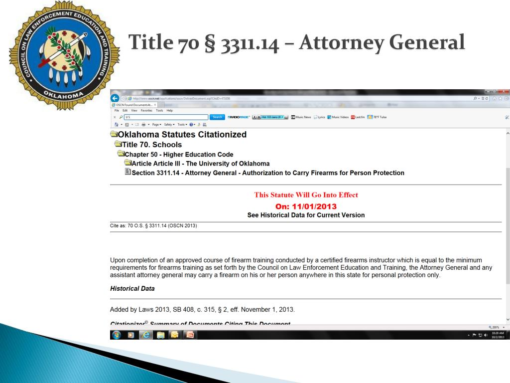 Title 70 § 3311.14 – Attorney General