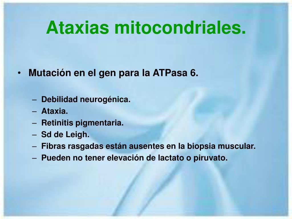 Ataxias mitocondriales.