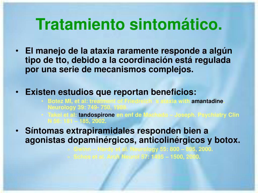 Tratamiento sintomático.