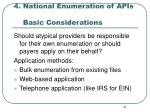 4 national enumeration of apis basic considerations