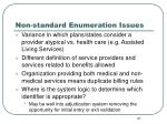 non standard enumeration issues