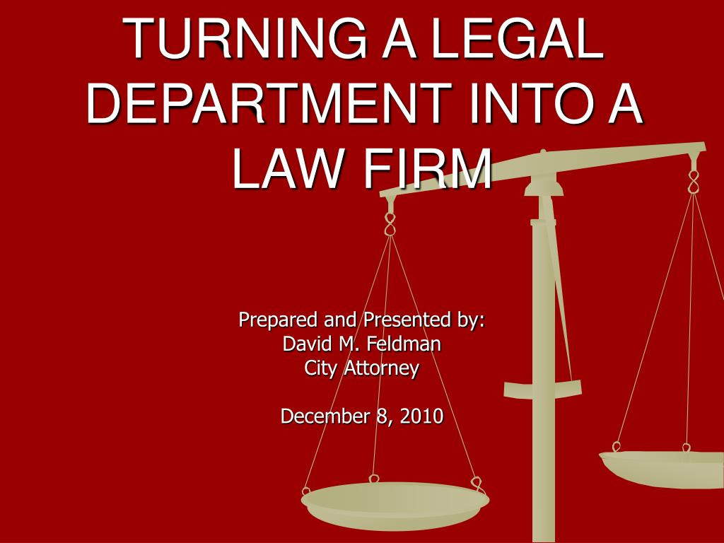 turning a legal department into a law firm l.