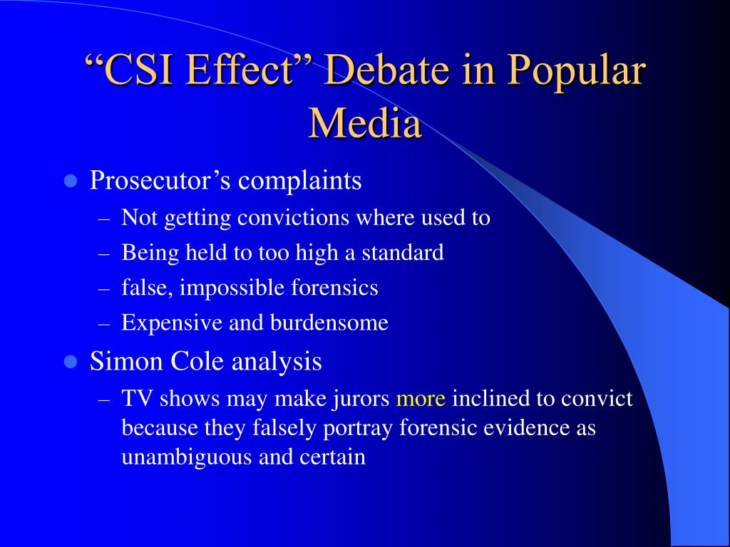 analysis of the 'csi effect'