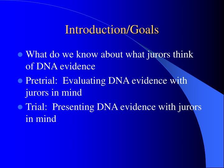 Introduction goals