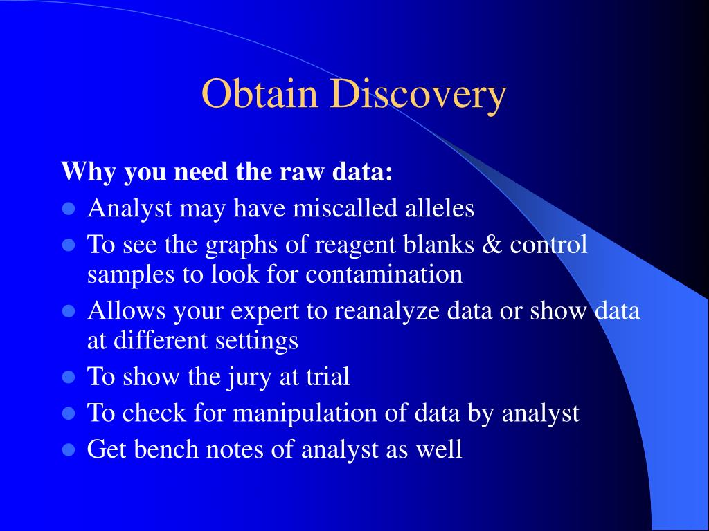 Obtain Discovery
