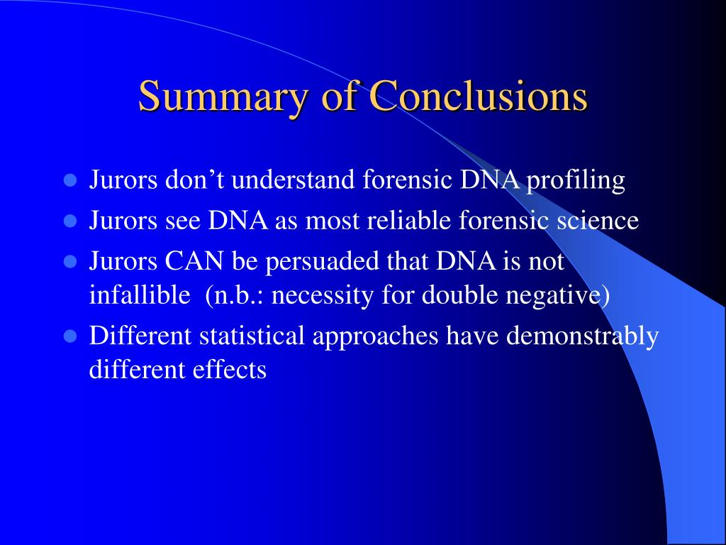 Summary of Conclusions