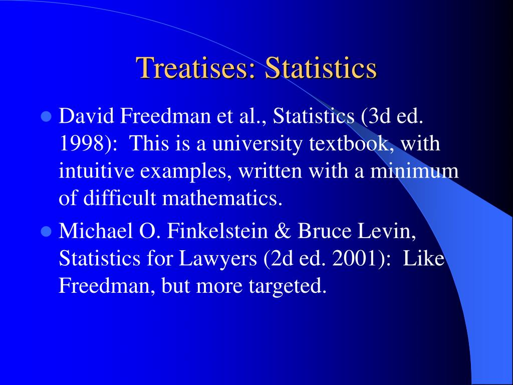 Treatises: Statistics