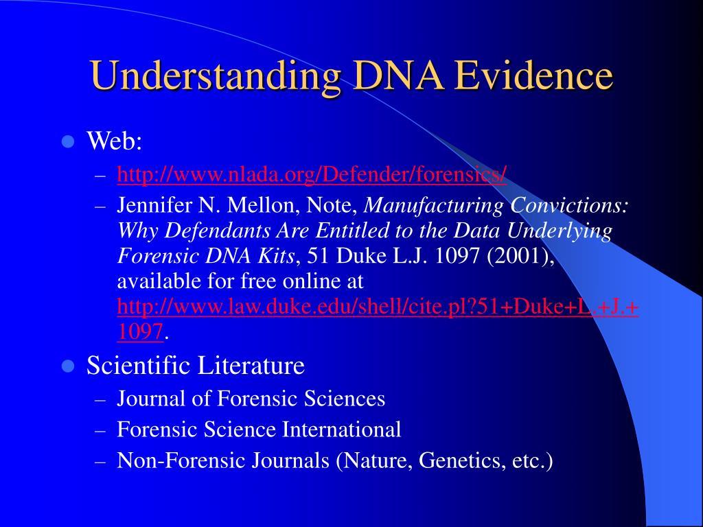 Understanding DNA Evidence