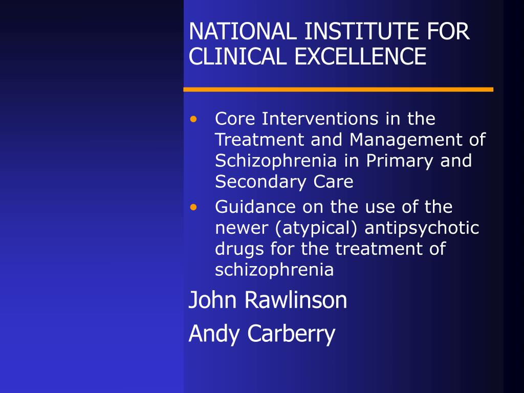 national institute for clinical excellence l.