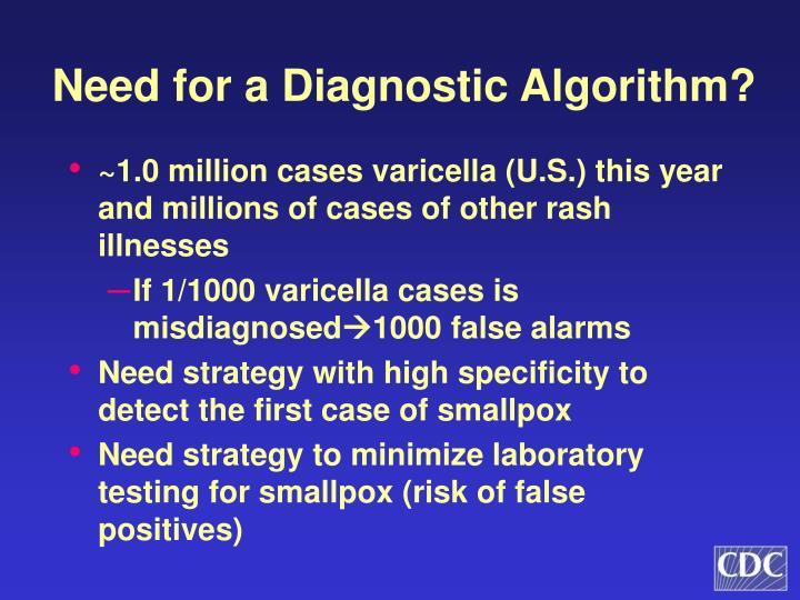 Need for a Diagnostic Algorithm?