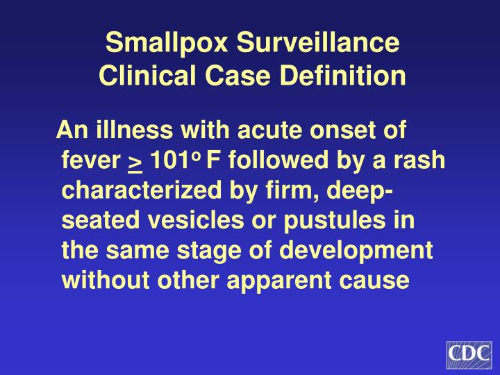 Smallpox Surveillance