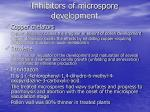 inhibitors of microspore development