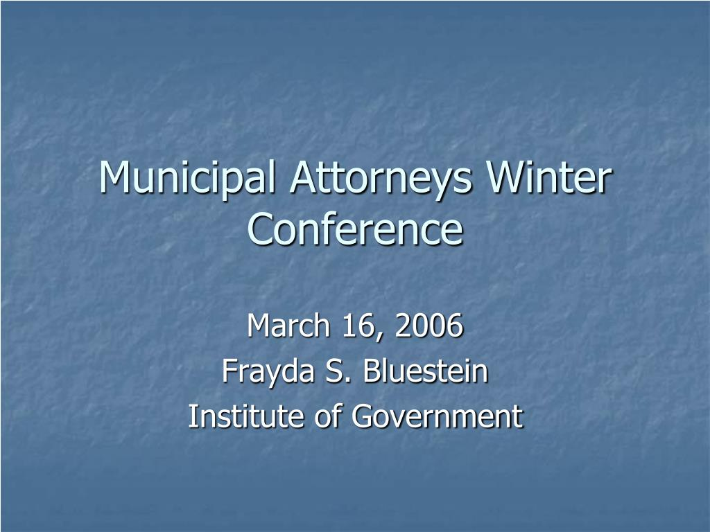 municipal attorneys winter conference l.