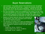 buyer reservations