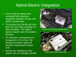 hybrid electric integration