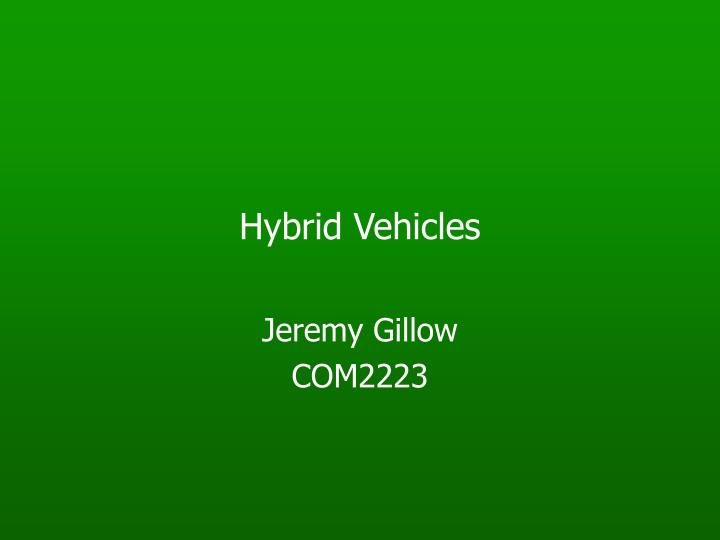 hybrid vehicles n.