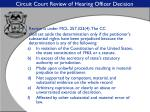 circuit court review of hearing officer decision