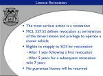 license revocation