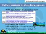 calcars a resource for a broad new campaign