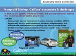 nonprofit startup calcars successes challenges