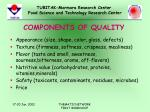components of quality