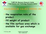 equilibrium values depend on