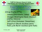 exportation of fruits 638 000 ton in 2000