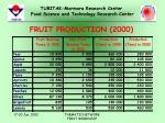 fruit production 2000