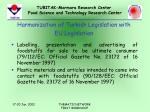 harmonization of turkish legislation with eu legislation