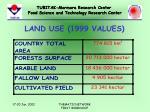 land use 1999 values