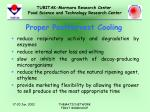 proper postharvest cooling