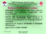 reduce postharvest losses