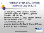 michigan s high bac ignition interlock law of 2010