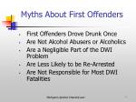 myths about first offenders