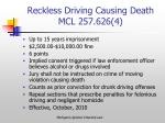 reckless driving causing death mcl 257 626 4