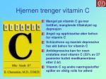 hjernen trenger vitamin c