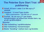 the peterlee sure start trial til publisering