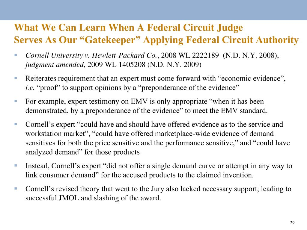 What We Can Learn When A Federal Circuit Judge