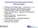 connecting and information points and principles