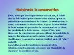 histoire de la conservation