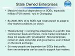 state owned enterprises
