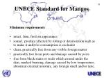 unece standard for mangos