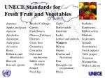 unece standards for fresh fruit and vegetables