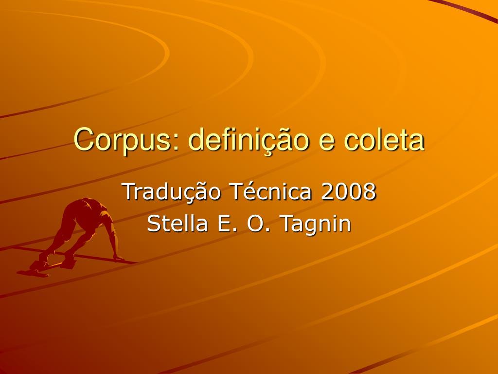 corpus defini o e coleta l.