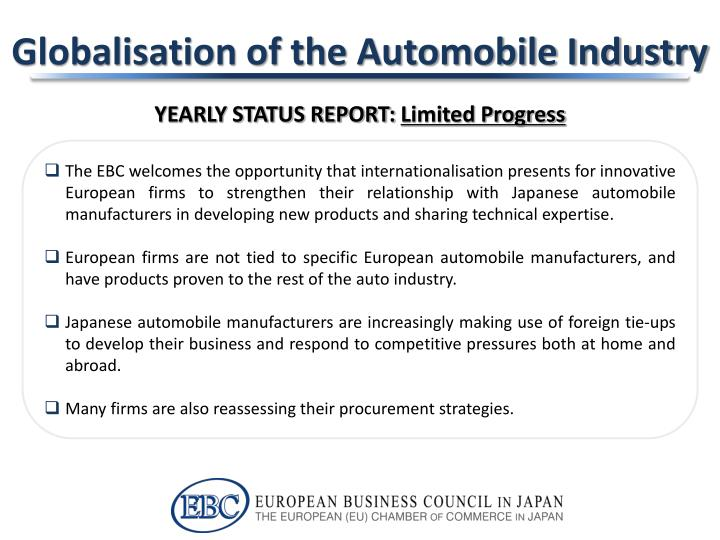 Globalisation of the automobile industry