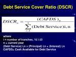 debt service cover ratio dscr