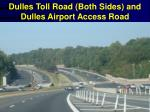 dulles toll road both sides and dulles airport access road