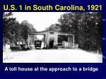 u s 1 in south carolina 1921